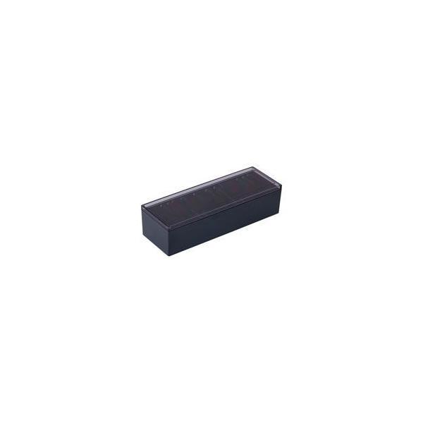 (まとめ)キングジム 名刺整理箱 75 黒〔×3セット〕
