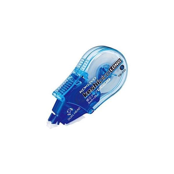 (まとめ) コクヨ 修正テープ(ケシピコロング) 5mm幅×26m 青 TW-295 1個 〔×10セット〕