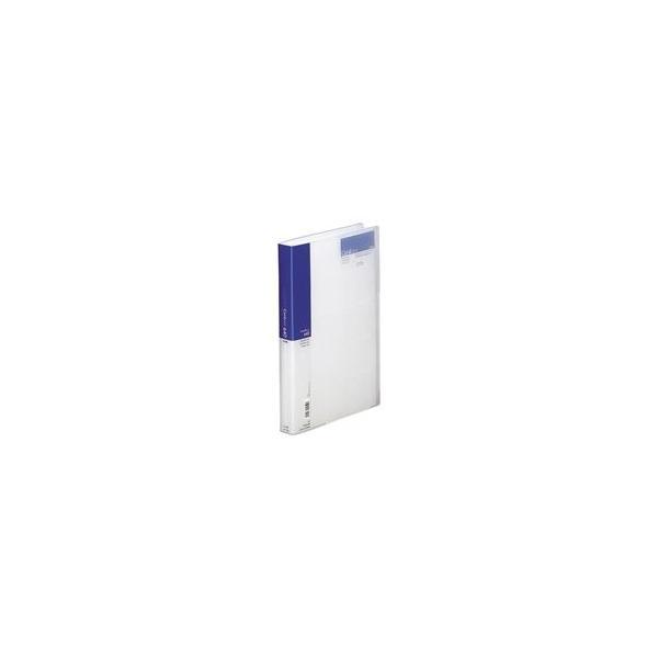 (業務用50セット) LIHITLAB 名刺ホルダー/名刺ファイル 〔A4〕 片面ポケット ヨコ入れ A-946 藍