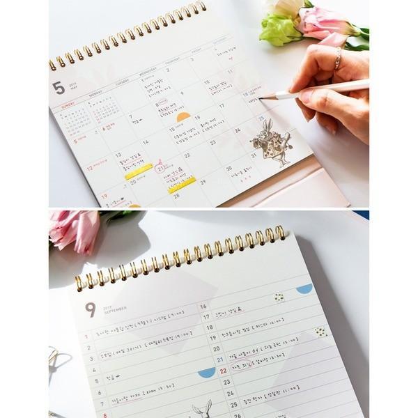 7321Design(7321デザイン) アリス2019年卓上カレンダー|happy-living|03