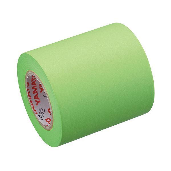 (まとめ) ヤマト メモック ロールテープ 蛍光紙詰替用 50mm幅 ライム RK-50H-LI 1巻 〔×30セット〕