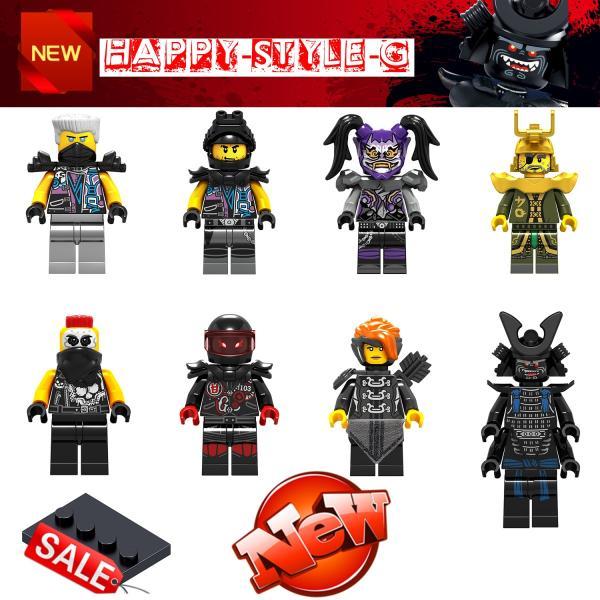 レゴ レゴブロック LEGO レゴミニフィグ ニンジャゴー 忍者8体Gセット 互換品 クリスマス プレゼント|happy-style-g