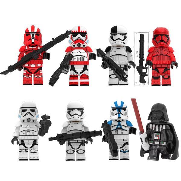 レゴ レゴブロック LEGO レゴミニフィグ スターウォーズ 8体Jセット 互換品 クリスマス プレゼント|happy-style-g