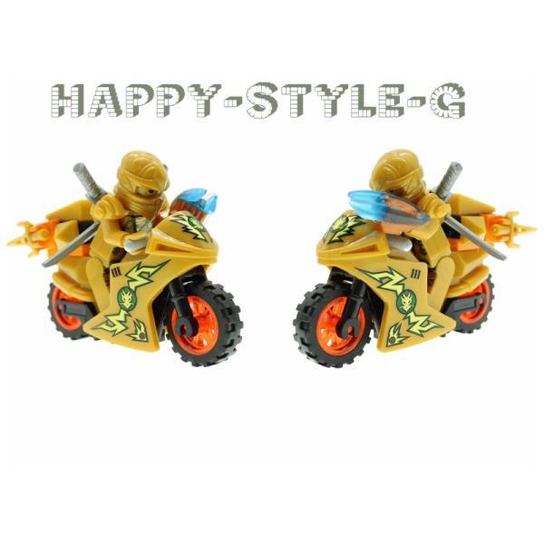 レゴ レゴブロック LEGO レゴブロック ニンジャゴー 忍者とバイク各8台 互換品 クリスマス プレゼント|happy-style-g|02