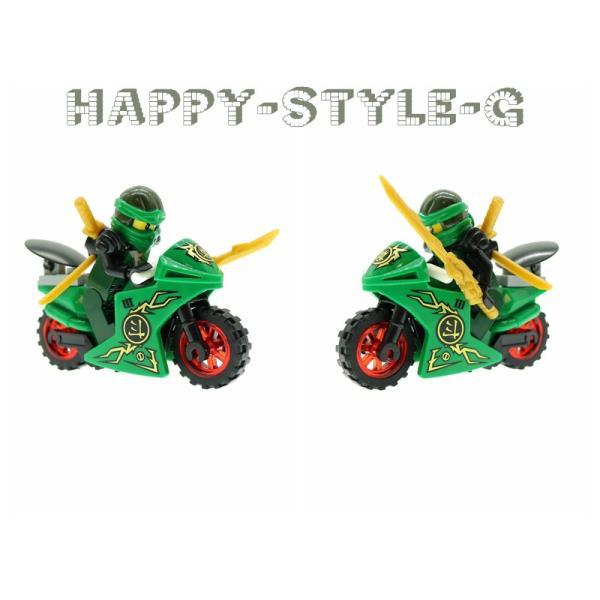 レゴ レゴブロック LEGO レゴブロック ニンジャゴー 忍者とバイク各8台 互換品 クリスマス プレゼント|happy-style-g|04