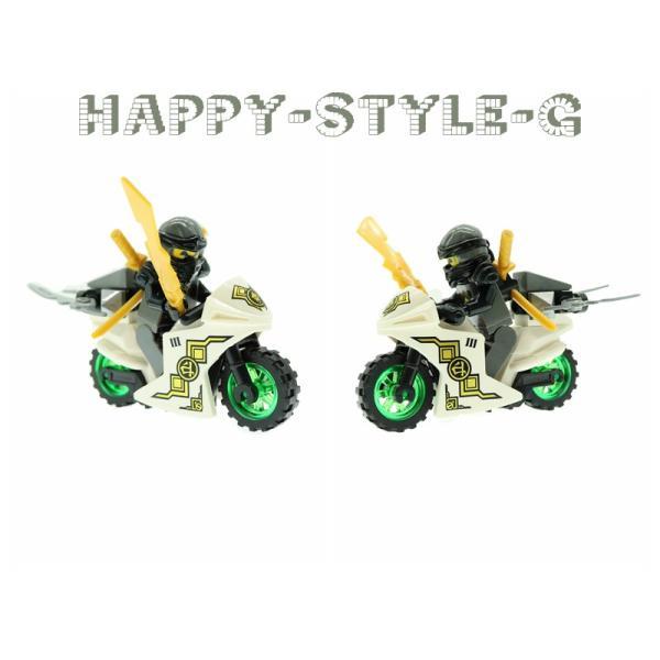 レゴ レゴブロック LEGO レゴブロック ニンジャゴー 忍者とバイク各8台 互換品 クリスマス プレゼント|happy-style-g|06