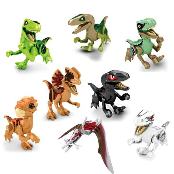 レゴ レゴブロック LEGO レゴジュラシックワールド恐竜8体 Cセット 互換品 クリスマス プレゼント|happy-style-g|02