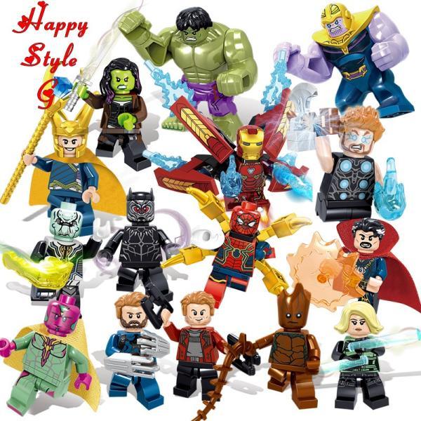 レゴ レゴブロック LEGO レゴミニフィグ アベンジャーズ 16体セット 互換