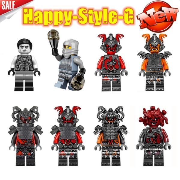 レゴ レゴブロック LEGO レゴミニフィグ ニンジャゴー 忍者8体Aセット互換品 クリスマス プレゼント|happy-style-g