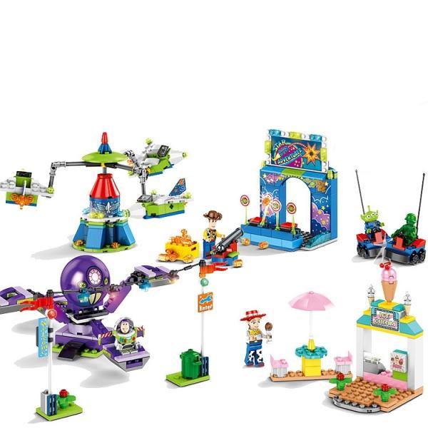 レゴ レゴブロック LEGO レゴディズトイストーリー ウッディ バズ4個セット互換品 クリスマス プレゼント|happy-style-g