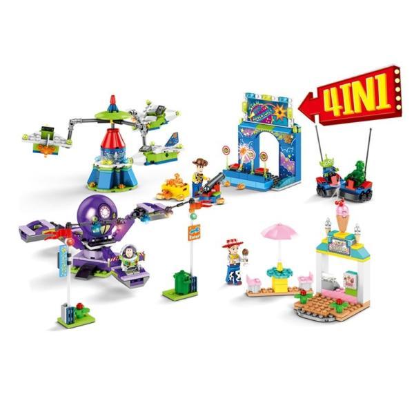 レゴ レゴブロック LEGO レゴディズトイストーリー ウッディ バズ4個セット互換品 クリスマス プレゼント|happy-style-g|02