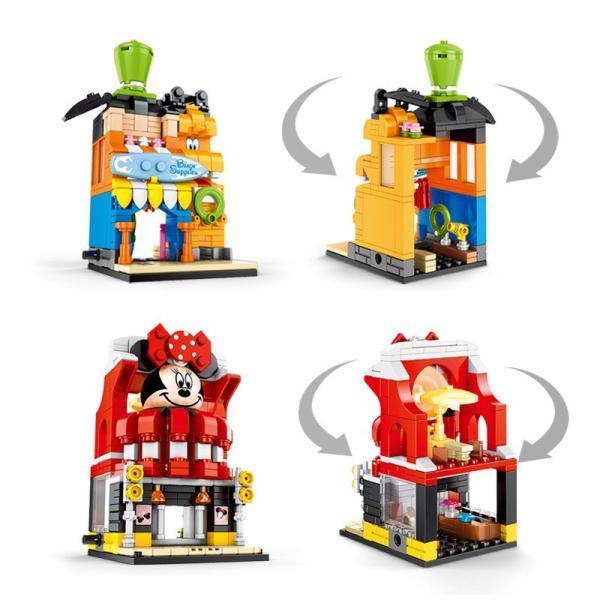 レゴ レゴブロック LEGO レゴミニモジュール式ディスショップ 他4個セット 互換品クリスマス プレゼント|happy-style-g|02