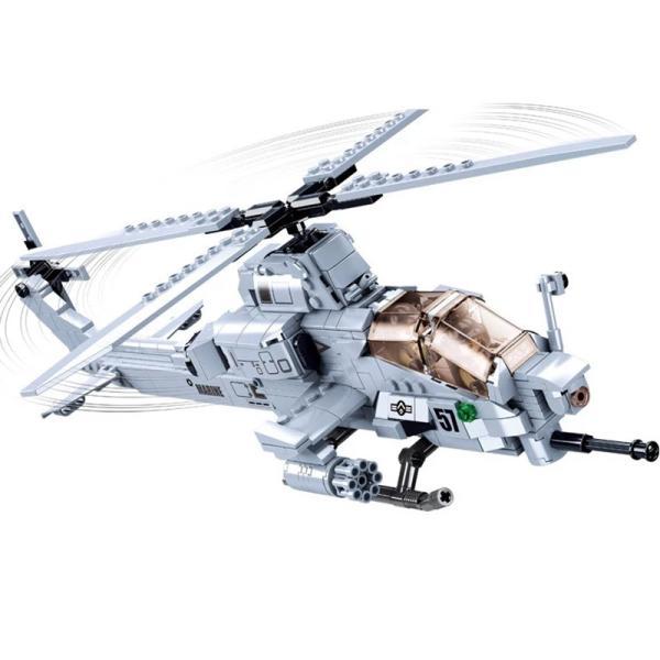ブロック互換レゴ互換品レゴミリタリーAH-1Zヴァイパー攻撃ヘリコプターアメリカ対地対戦車攻撃互換品クリスマスプレゼント