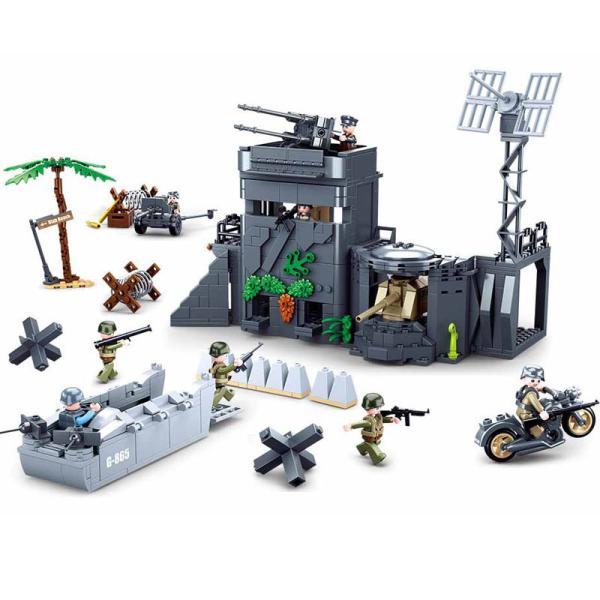 ブロック互換レゴ互換品レゴミリタリーノルマンディーの戦い大君主作戦連合軍の作戦互換品クリスマスプレゼント