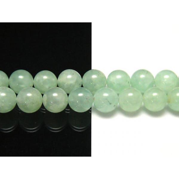 プレナイト アップルグリーン 12mm 天然石 ビーズ 半連 約17〜18cm