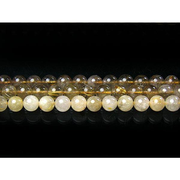 ルチルクオーツ 10mm 天然石 ビーズ 丸玉 半連 約17〜18cm