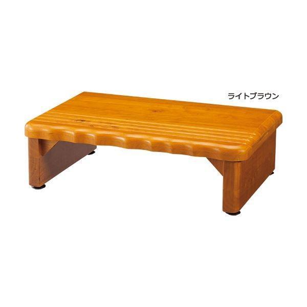 天然木和風玄関台(踏み台) 〔2: 幅60cm〕 木製(天然木) ライトブラウン〔送料無料〕