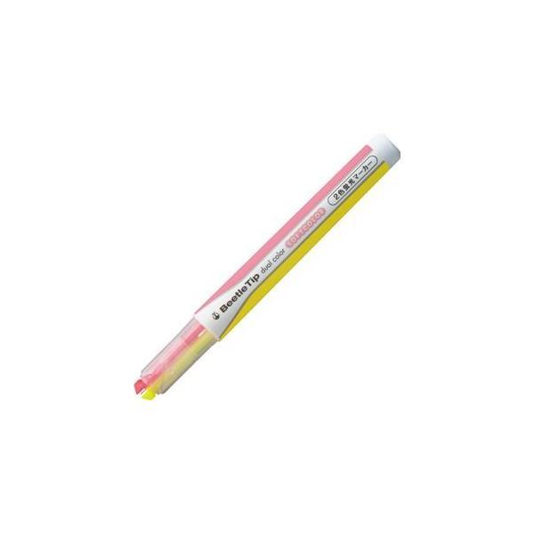 コクヨ 2色蛍光マーカー ビートルティップ ソフトカラー ソフトイエロー×ソフトピンク PM-L313-1-1P 1本 〔×40セット〕〔送料無料〕