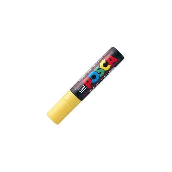 三菱鉛筆 水性マーカー ポスカ 極太角芯 黄 PC17K.2 1本 〔×20セット〕〔送料無料〕