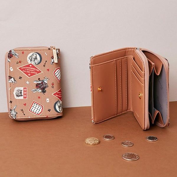 【直送】7321Design(7321デザイン) 可愛いギフトボックスに入った小銭入れ付ミニ財布/BBH/トロピカルジャングル(ブラック)