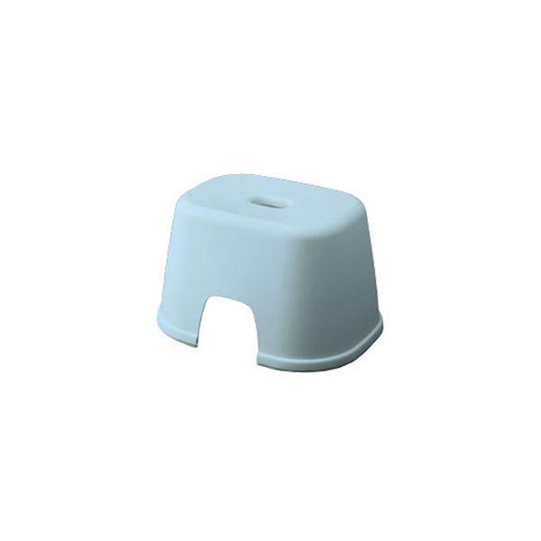 シンプル バスチェア/風呂椅子 〔200 ブルー〕 すべり止め付き 材質:PP 『HOME&HOME』〔代引不可〕