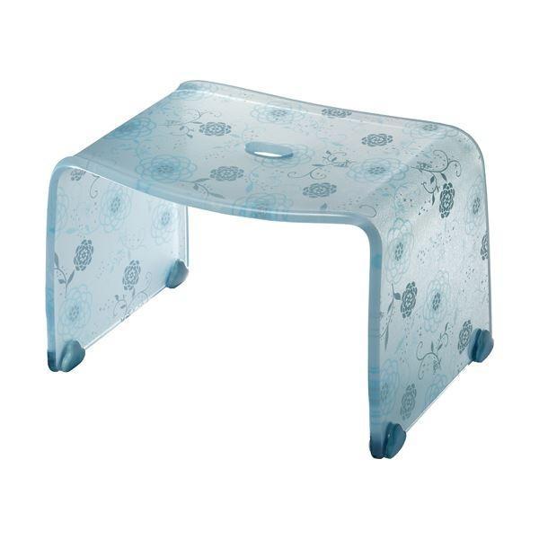 ロマンチック バスチェア/風呂椅子 〔Sサイズ ペールブルー〕 脚ゴム付き 『フィルロ シュシュ』〔代引不可〕