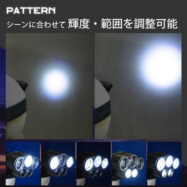 【直送】Tomo Light LEDヘッドライト 充電式 ヘッドライト 対防水コーティング ヘッデン 高輝度LED 3734ルーメン仕様 5点灯 防災 釣り 夜釣り〔3個セット〕