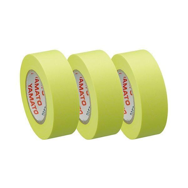 ヤマト メモック ロールテープつめかえ用 15mm幅 レモン RK-15H-LE 1パック(3巻) 〔×30セット〕〔送料無料〕