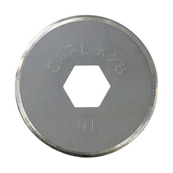 カール事務器 ディスクカッター替刃 丸刃 DCC-28 1枚〔×10セット〕〔送料無料〕