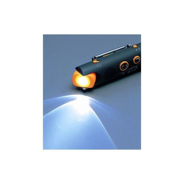ダイナモ スウィングライトラジオ/防災グッズ 〔30個セット〕 AM/FMラジオ LEDライト 〔防災用品 避難グッズ〕|happyconnect|03