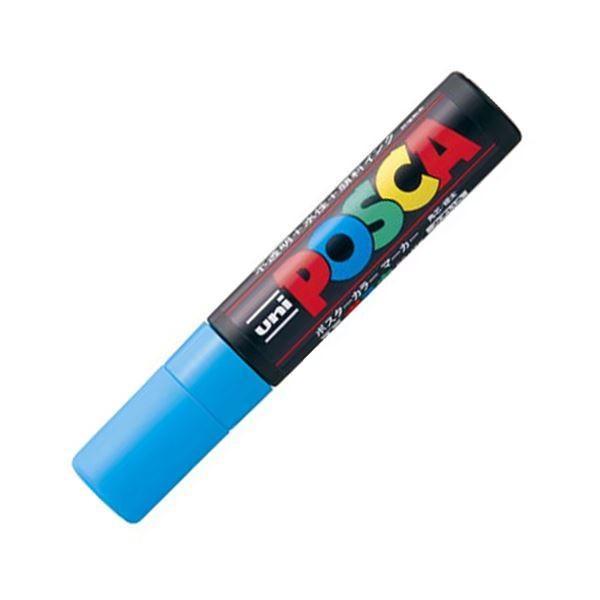 三菱鉛筆 水性マーカー ポスカ 極太角芯 水色 PC17K.8 1本 〔×30セット〕〔送料無料〕