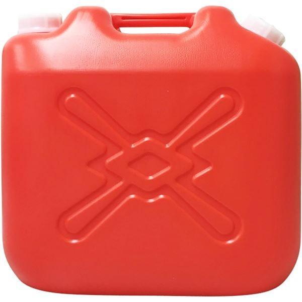 (まとめ) 灯油缶/灯油用ポリタンク 〔赤 20L〕 ワイド キャップ口径:50mm JISマーク付き 〔4個セット 〕