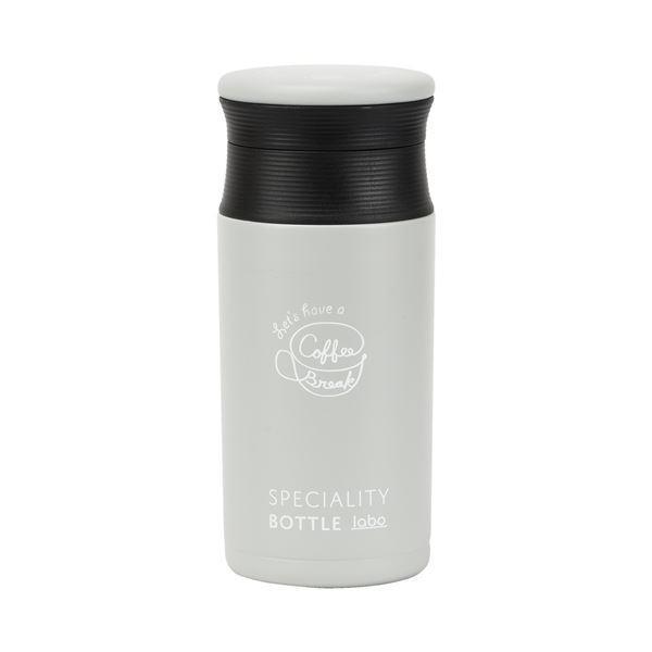 ステンレスボトル/水筒 〔350ml ライトグレー〕 真空断熱構造 ベストコ コーヒータイム カフェマグボトル 〔アウトドア〕〔代引不可〕