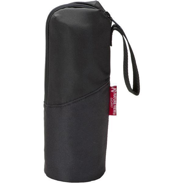 ボトルホルダー 〔600ml用 ブラック 3個組〕 ペットボトル・ステンレスボトル対応 ハンドストラップ付 コンパクト収納 ウォーモ〔送料無料〕