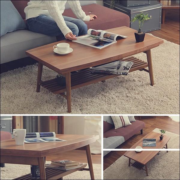 ダイニング テーブル ローテーブル 折りたたみ 長方形 完成品 おしゃれ ウォールナット  日本製 国産 ZETA
