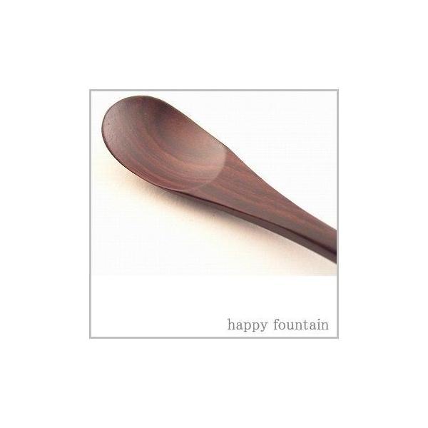 森の贈り物  シタン 茶碗蒸しスプーン   木製食器 /木製カトラリー/木製スプーン