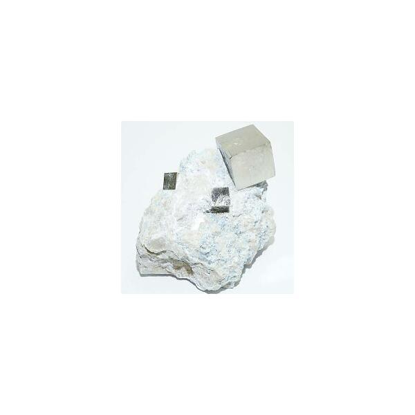 《スペイン産》母岩付キュービックパイライト原石 46g