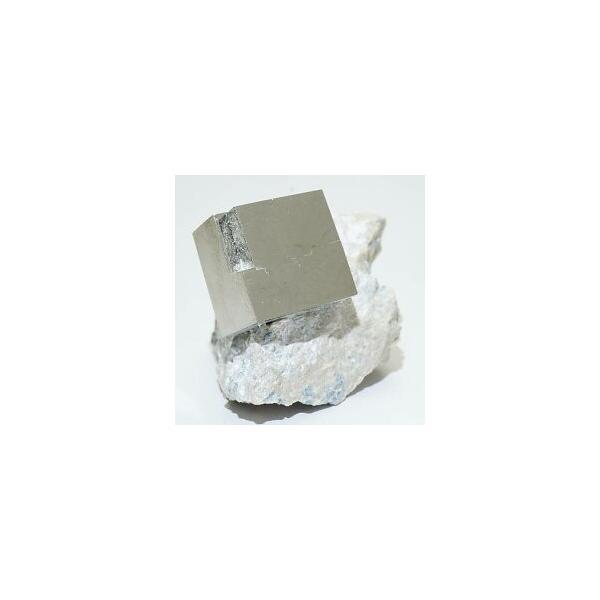 《スペイン産》母岩付キュービックパイライト原石 32g