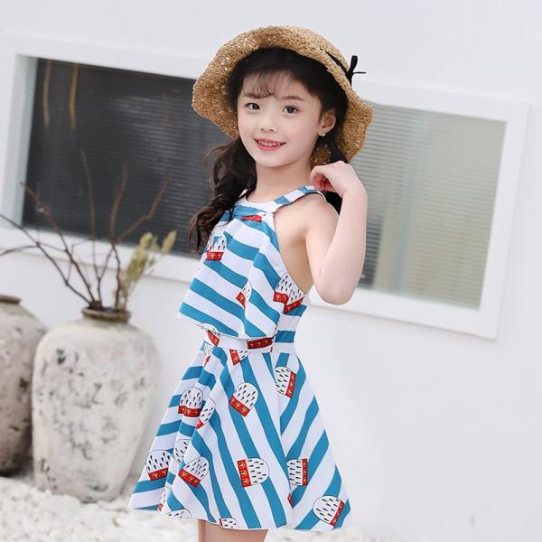 03b27cd1aa1e96 子供 水着 女の子 ワンピース キッズ 水着 可愛い ワンピース 紫外線カット 韓国 スイミング水着の画像