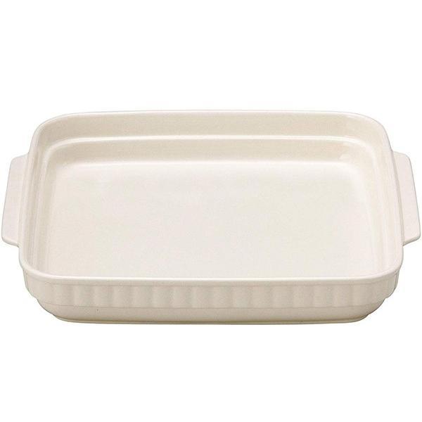 ホワイトスタッキング  正角グラタン(大)   28.5×26×4.5cm   耐熱陶製皿 万古焼 日本製 happylife888
