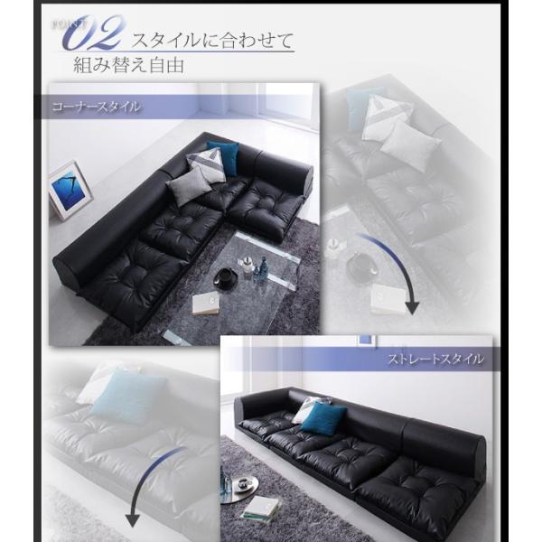 PVCレザーフロアコーナーソファ 1P+2P+コーナー|happylifecreate|04