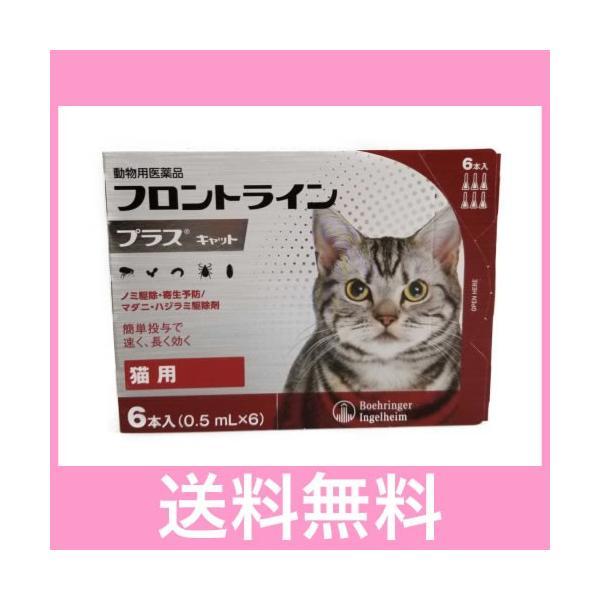 |◎◎【メール便・送料無料】猫用 フロントラインプラス 6本