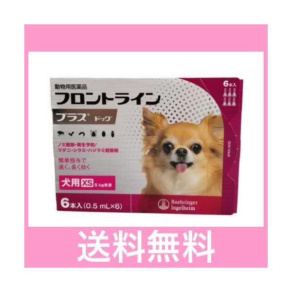 |◎◎【メール便・送料無料】犬用 フロントラインプラス XS(5kg未満) 6本