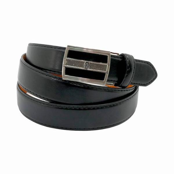 大きいサイズ メンズ ベルト レザー ビジネス 黒 無段階 本革 穴なし ワンタッチ 超ロング ウエスト130cmまで 長い 長尺 紳士 GB-EL1 宅配便のみ