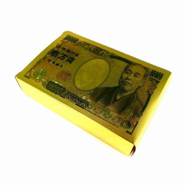壱萬円札レプリカトランプ ゴールド プラスチック トランプ 一万円札 紙幣トランプ HB-483 宅配便のみ