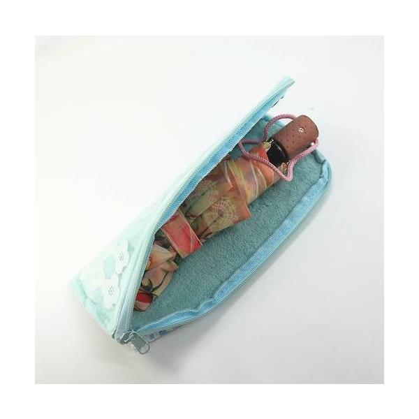折りたたみ傘袋 折りたたみ傘ポーチ ブルー 花柄 ML-754 レディース キッズ 傘ケース 傘入れ 挿し袋 メール便OK