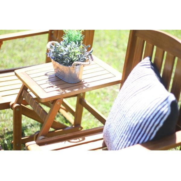 ガーデンベンチ おしゃれ 折りたたみ 木製 幅141×奥行61×高さ87cm ブラウン