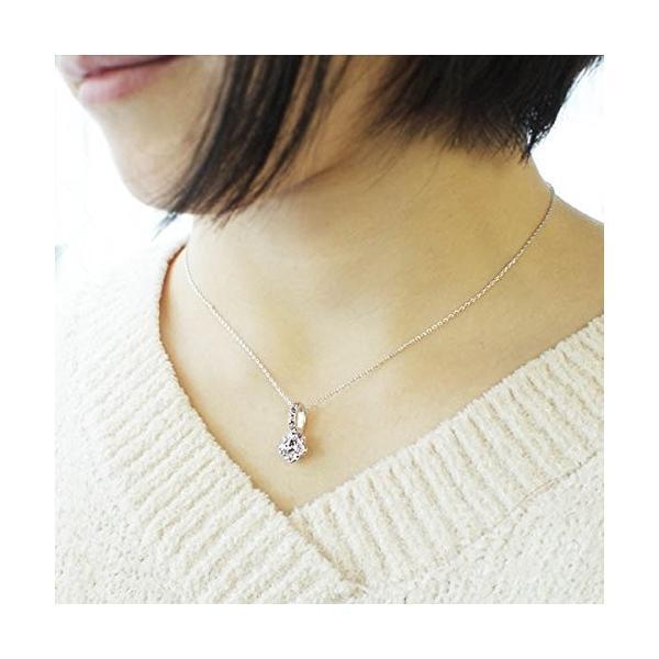 One&Only Jewellery スワロフスキー エレメンツ さくらシェイプ ネックレス ペンダント K18GP 正規ストーン採用 (ブルー)|happysmiles|05