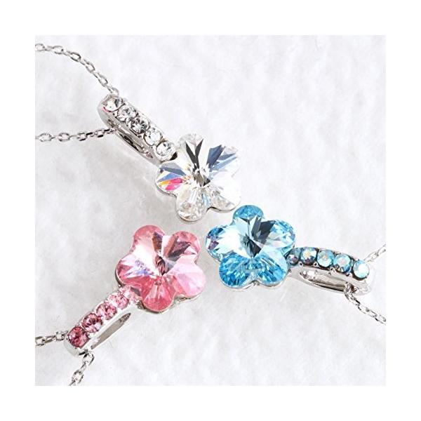 One&Only Jewellery スワロフスキー エレメンツ さくらシェイプ ネックレス ペンダント K18GP 正規ストーン採用 (ブルー)|happysmiles|06