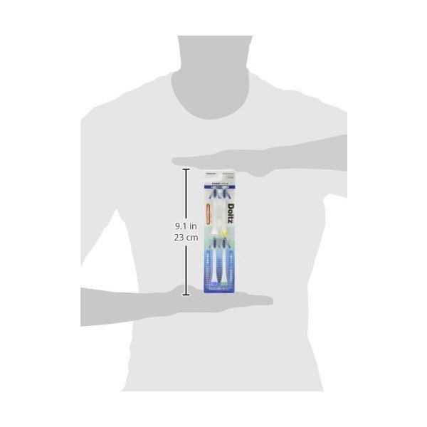 パナソニック 替えブラシ ドルツ 山切りタイプ(Vヘッド) 4本組 白 EW09104-W happysmiles 04